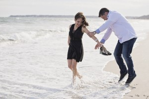 Couples Portrait Session at Long Beach on Cape Cod, Centerville, Massachusetts - Sarah Murray Photography