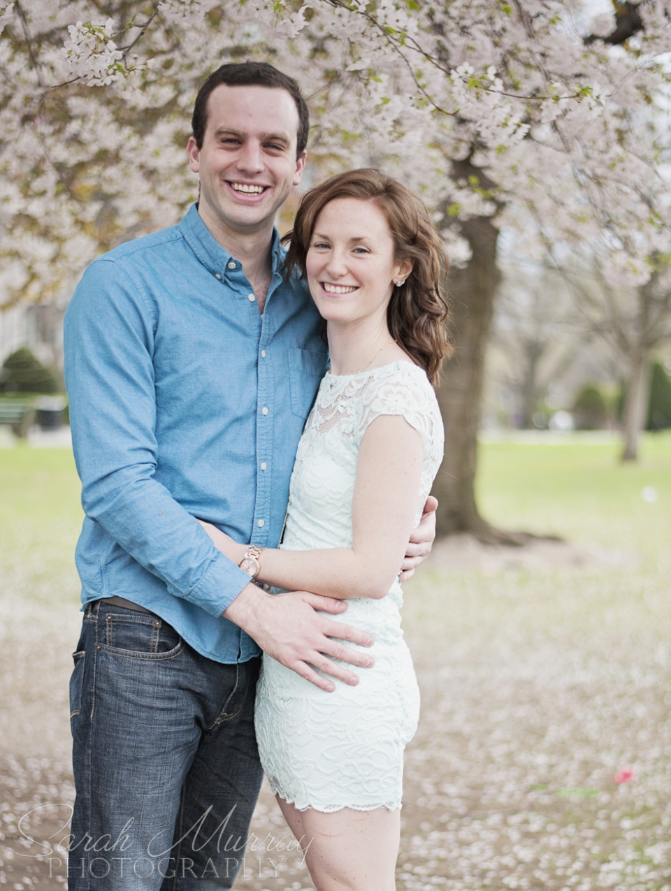 Boston Engagement Session at the Boston Public Garden, Massachusetts - Sarah Murray Photography