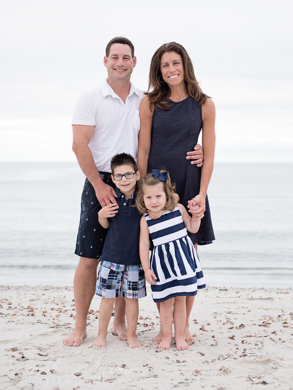Dowses Beach Cape Cod Family Photo Session in Osterville, Massachusetts - Sarah Murray Photography