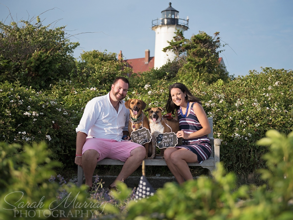 Nobska Lighthouse and Nobska Beach Engagement Session on Cape Cod in Falmouth, Massachusetts - Sarah Murray Photography