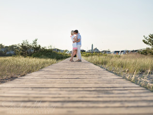 Sandwich Boardwalk Cape Cod Engagement Photo Session on Cape Cod, Massachusetts - Sarah Murray Photography