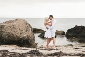 Nobska Lighthouse Beach Cape Cod Engagement Photo Shoot in Falmouth, Massachusetts - Sarah Murray Photography