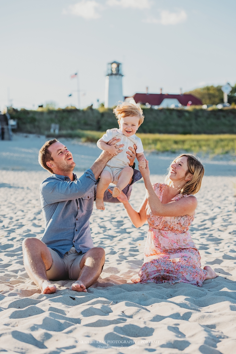 Family Photo Session at Chatham Lighthouse Beach in Chatham, Massachusetts - Sarah Murray Photography