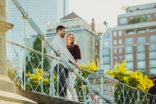 Boston Commons City Engagement Session in Boston, Massachusetts - Sarah Murray Photography