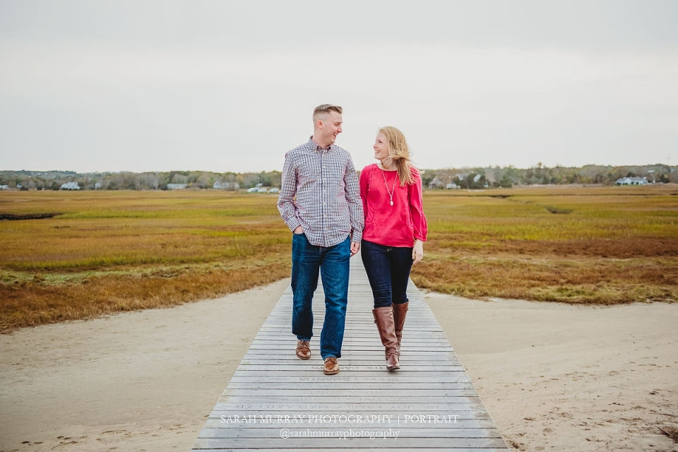 Sandwich Boardwalk Cape Cod Engagement Photo Session in Sandwich, Massachusetts - Sarah Murray Photography