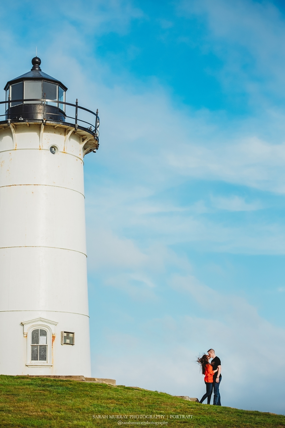 Nobska Light House Beach Engagement Session on Cape Cod in Falmouth, Massachusetts - Sarah Murray Photography