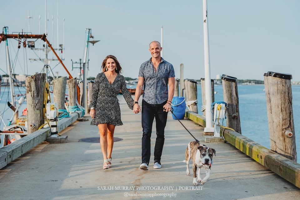 Provincetown Pier Beach Engagement Session on Cape Cod in Massachusetts Sarah Murray Photography