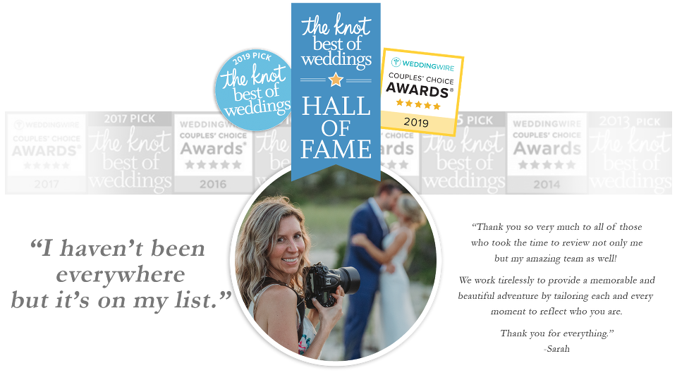 Wedding Wire Couples Choice Awards & The Best of The Knot Award - Sarah Murray Photography