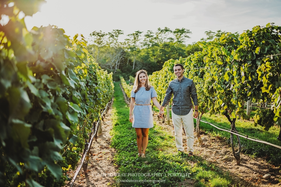 Truro Vineyards Engagement Session on Cape Cod in Truro Massachusetts Sarah Murray Photography