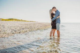 Mayflower Beach Engagement Photo Session on Cape Cod in Dennis Massachusetts Sarah Murray Photography