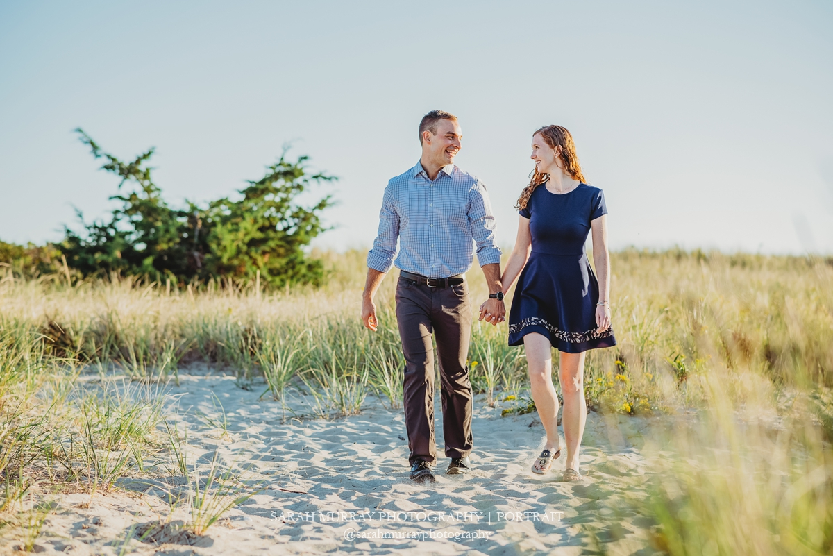 Cape Cod Beach Engagement Session on Long Beach in Centerville Massachusetts Sarah Murray Photography