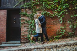 Historic Acorn Street Boston City Engagement Photo Session in Massachusetts Sarah Murray Photography