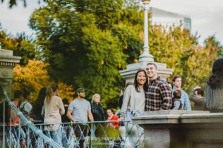 Boston Commons Park Engagement Photo Session in Boston Massachusetts Sarah Murray Photography