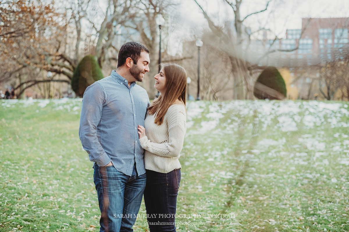 Boston Common Park City Engagement Photo Session in Boston Massachusetts Sarah Murray Photography