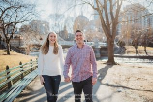 Acorn Street Boston City Engagement Photo Session in Massachusetts Sarah Murray Photography
