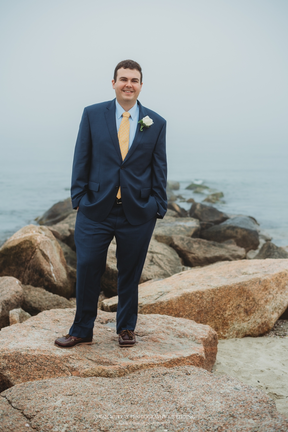 Menauhant Beach Elopement Wedding on Cape Cod in East Falmouth Massachusetts Sarah Murray Photography
