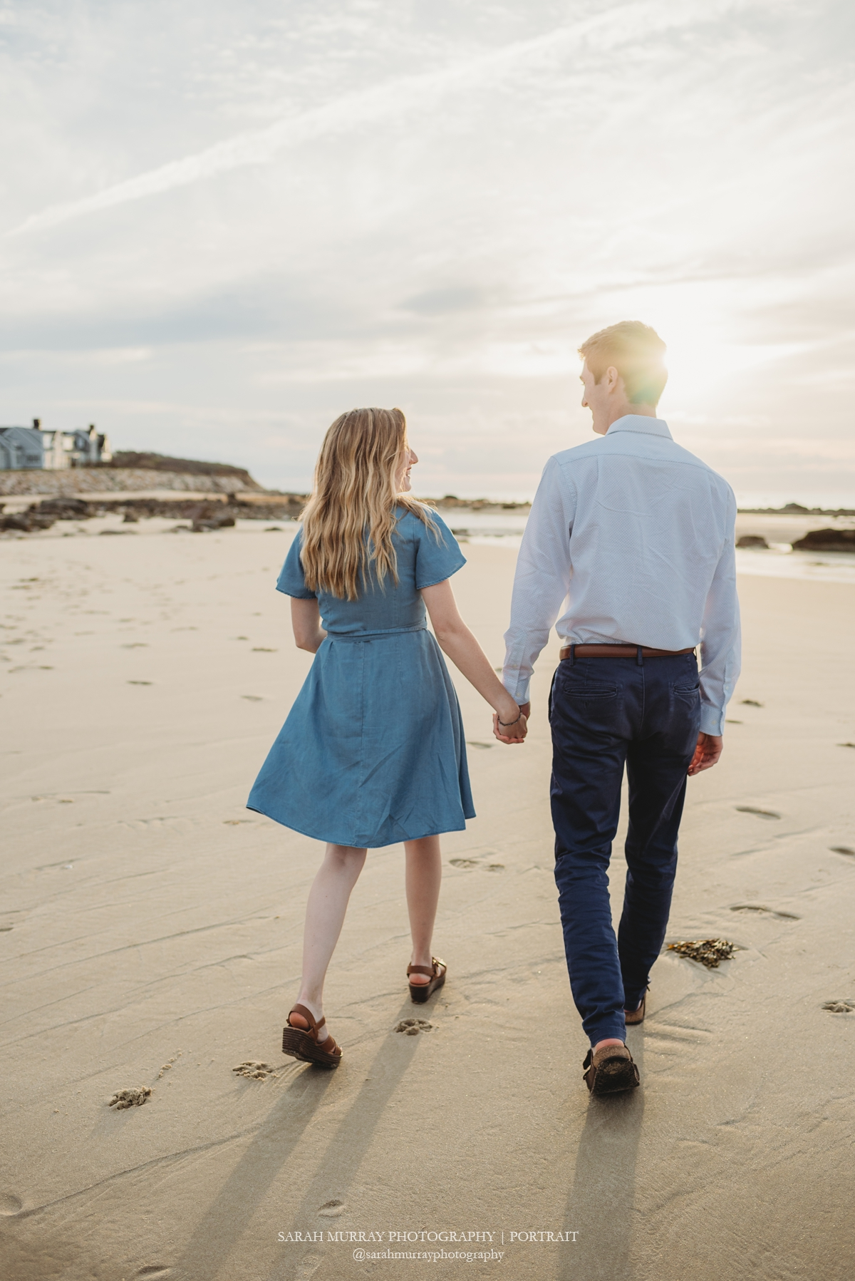 Sesuit Beach Engagement Photo Session on Cape Cod in Dennis Massachusetts Sarah Murray Photography