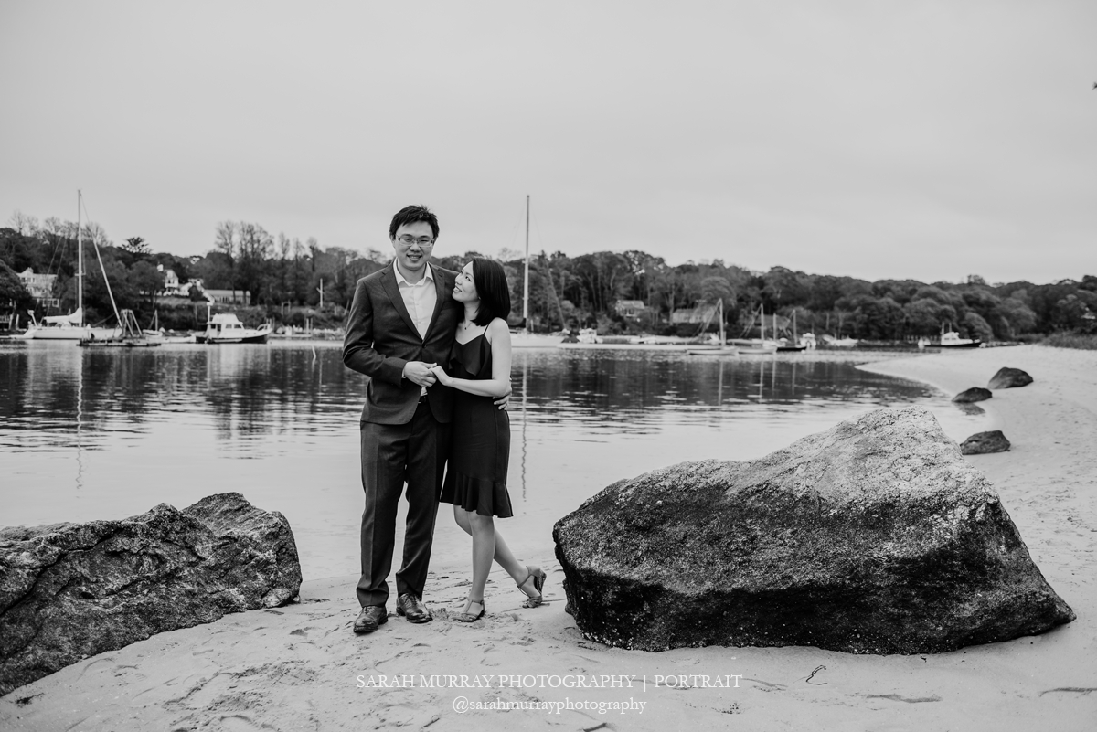 The Knob Harbor Beach Cape Cod Engagement Session in Woods Hole Massachusetts Sarah Murray Photography